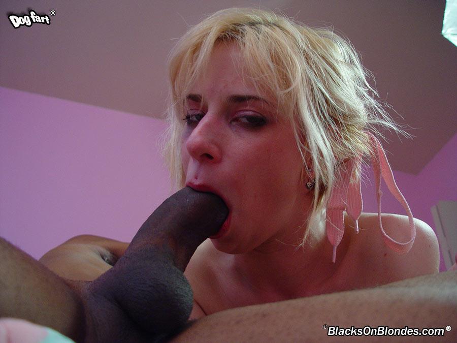 Негодная блондинка Lain Oi делает отличный минет и принимает большой черный член в киску