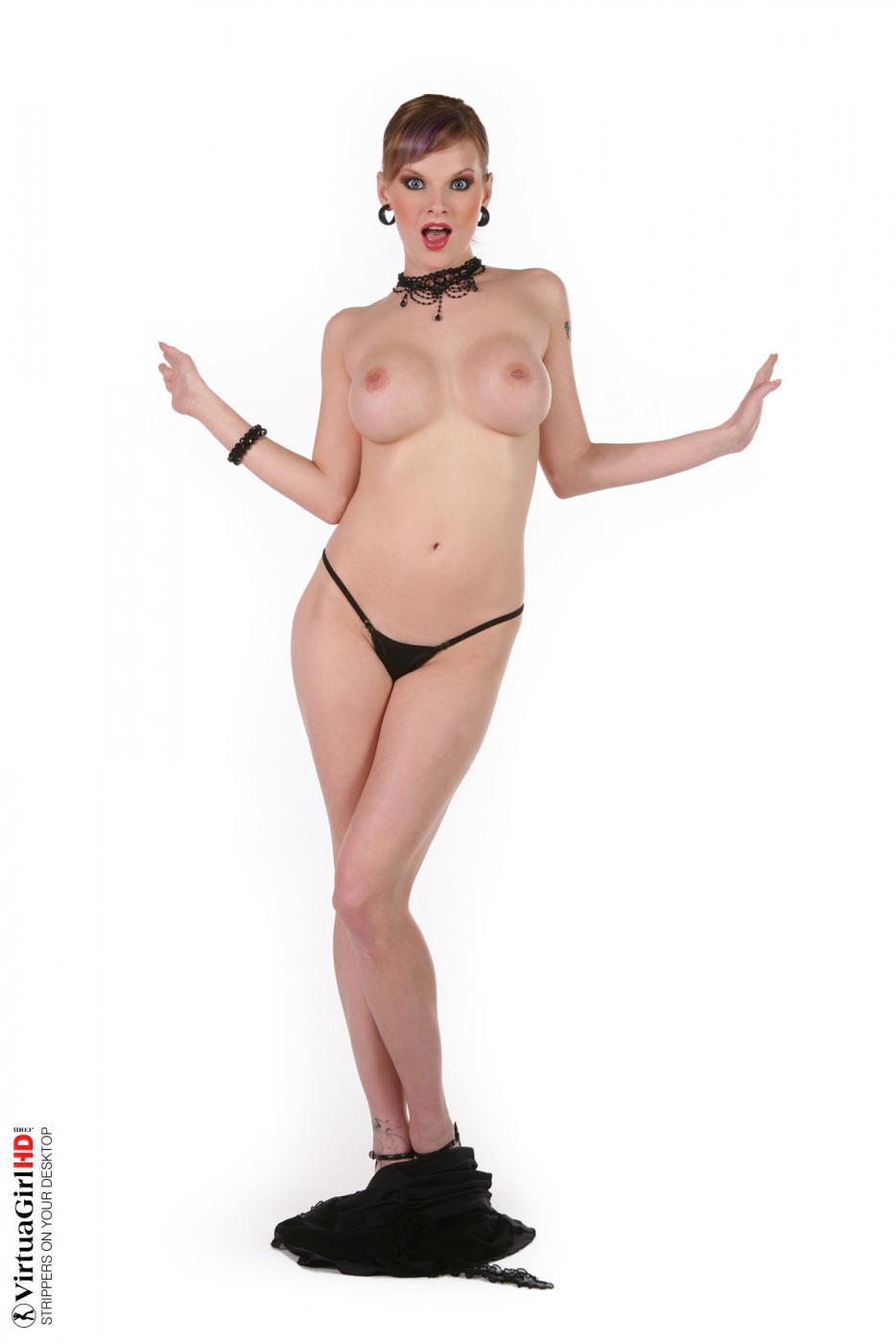 Брюнеточка Tarra White шикарно выглядит, когда играет с большими сиськами и показывает киску
